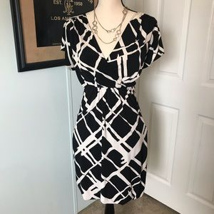 Graphic design wrap style dress